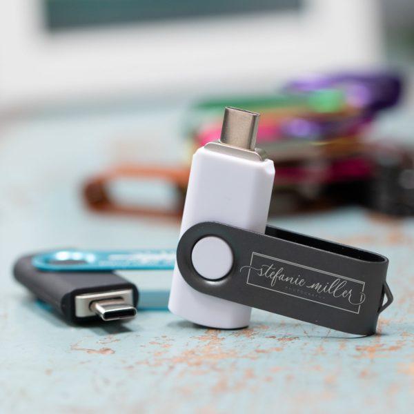 USB-C Swivel Flash Drive