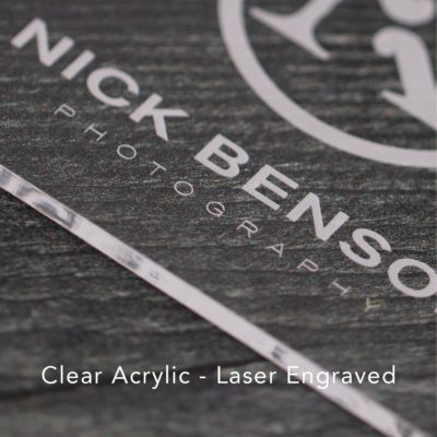 Clear Acrylic - Laser Engraved
