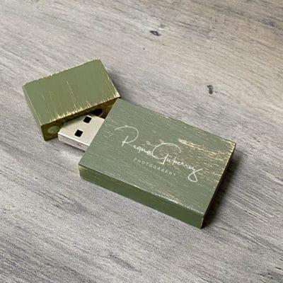 green vintage flash drive