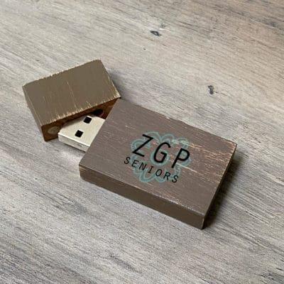 brown vintage flash drive