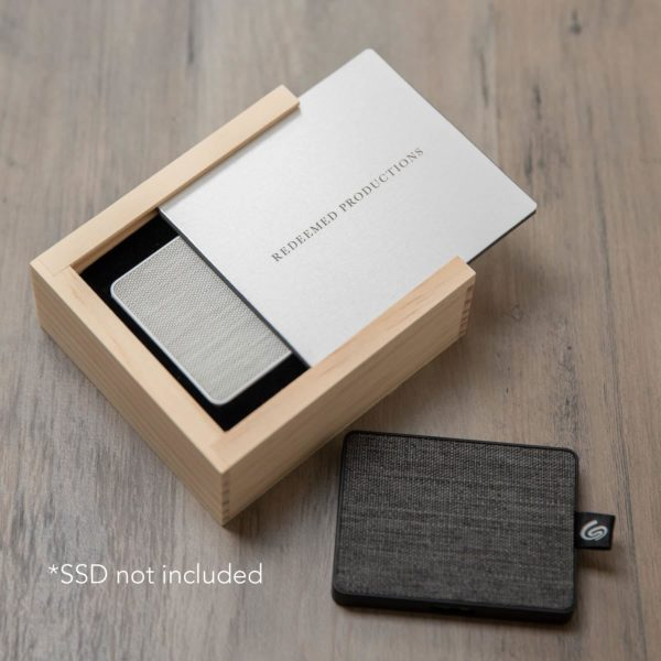 Rustic Wood Slide Box For SSD